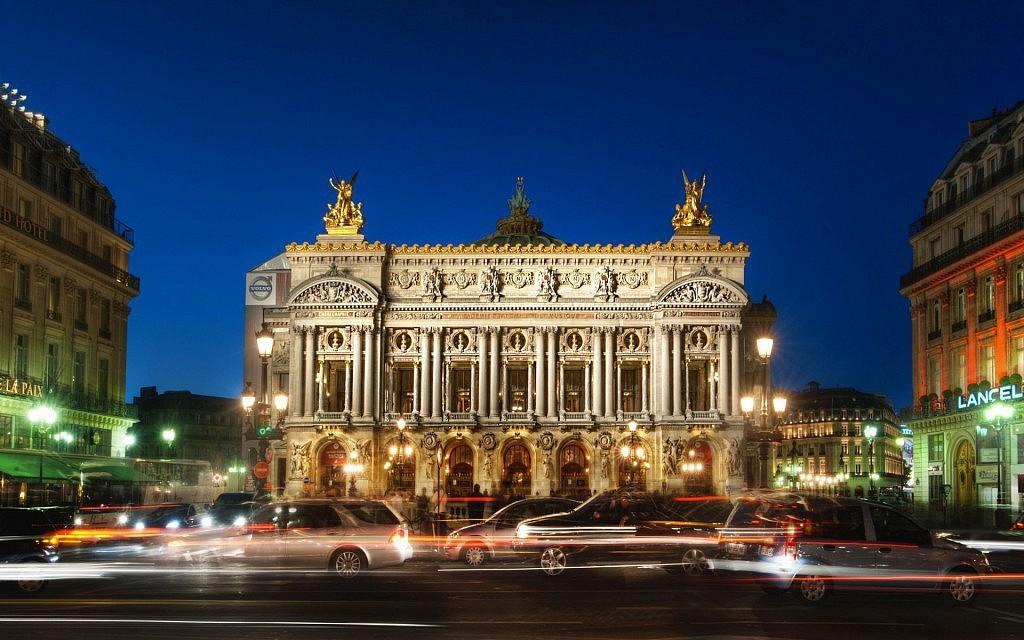 Paris Opera Night France Hd Widescreen Wallpapers 1024x640